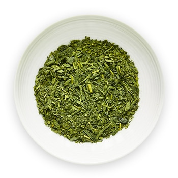 hime sencha with matcha green tea leaves